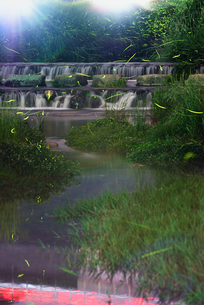 二瀬川親水公園 日本 佐賀県 小城市の写真素材 [FYI04287962]