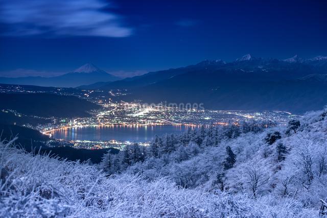 高ボッチ山 日本 長野県 岡谷市の写真素材 [FYI04288115]