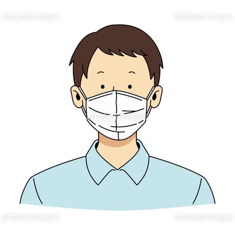 マスクをした男性1のイラスト素材 [FYI04288159]