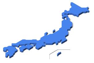 日本地図3d(アイソメトリック)のイラスト素材 [FYI04288189]