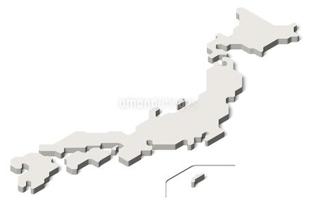 日本地図3d(アイソメトリック)のイラスト素材 [FYI04288190]
