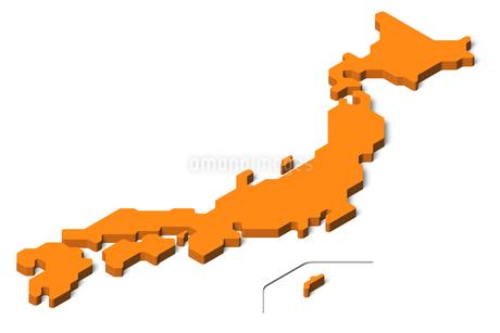 日本地図3d(アイソメトリック)のイラスト素材 [FYI04288191]