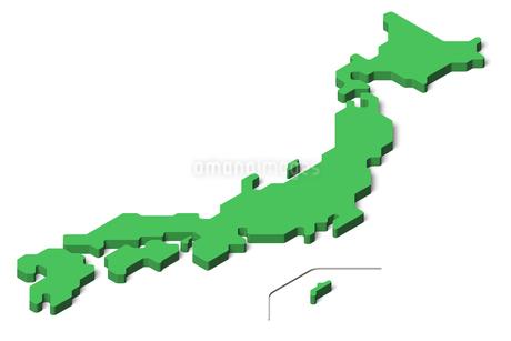 日本地図3dのイラスト素材 [FYI04288192]