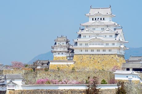 春の姫路城の写真素材 [FYI04288354]