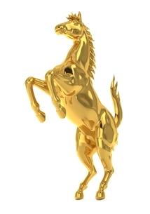 金の馬のイラスト素材 [FYI04288388]