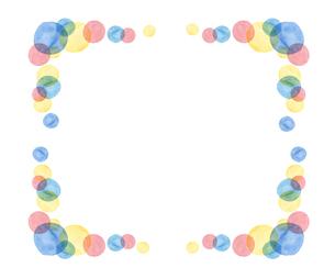 水彩水玉フレームのイラスト素材 [FYI04288401]