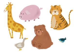 かわいい動物たち8のイラスト素材 [FYI04288695]