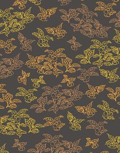 植物柄のパターンのイラスト素材 [FYI04288973]