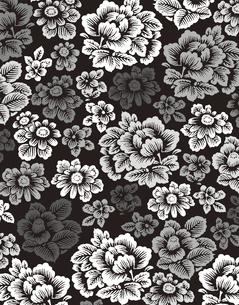 花柄のパターンのイラスト素材 [FYI04289061]