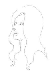 女性線画のイラスト素材 [FYI04289125]