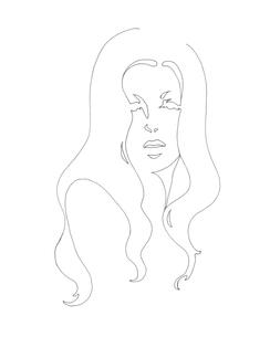 女性線画のイラスト素材 [FYI04289126]
