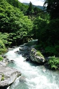 日原川に曳索鉄道の写真素材 [FYI04289445]