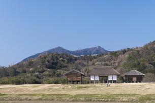 平沢官衛遺跡と筑波山の写真素材 [FYI04289581]