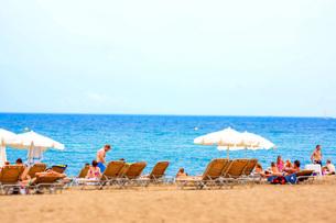 バルセロネータビーチ(スペイン・バルセロナ)の写真素材 [FYI04290018]
