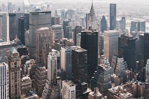 ニューヨーク・マンハッタンの都市景観の写真素材 [FYI04290520]