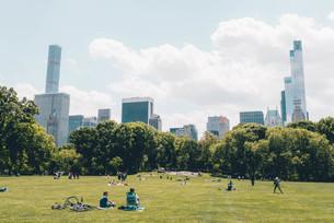 新緑のニューヨーク・セントラルパークの写真素材 [FYI04290543]
