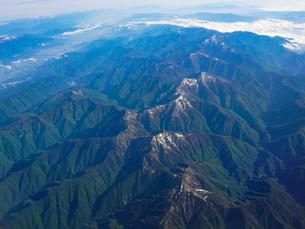 飛行機から南アルプスを一望の写真素材 [FYI04290545]