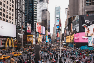 ニューヨーク・タイムズスクエアの写真素材 [FYI04290643]