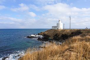 納沙布岬の灯台の写真素材 [FYI04290711]