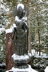 冬の高野山奥之院参道の写真素材 [FYI04290797]