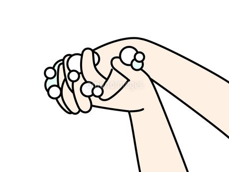 手洗い-指の間のイラスト素材 [FYI04290826]