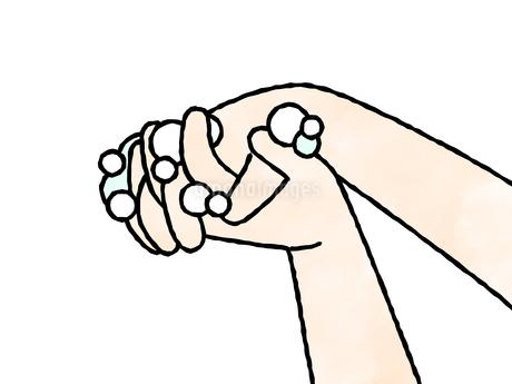 手洗い-指の間-水彩のイラスト素材 [FYI04290827]