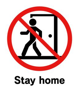 外出禁止サインのイラスト素材 [FYI04291235]