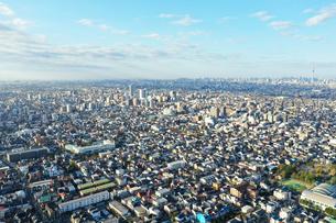 江戸川上空から見た東京の写真素材 [FYI04291525]