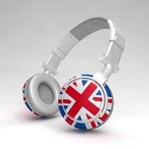 英国国旗のヘッドフォンのイラスト素材 [FYI04292052]