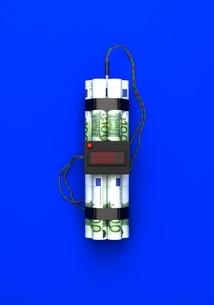 ユーロ紙幣で出来た爆弾のイラスト素材 [FYI04292056]