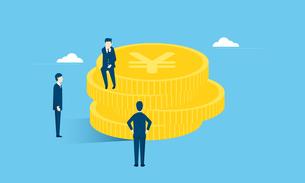 お金とビジネスマンのイラストイメージのイラスト素材 [FYI04293636]