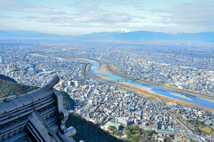 岐阜城天守閣からの眺めの写真素材 [FYI04293664]