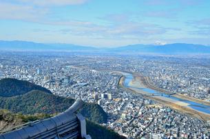 岐阜城天守閣からの眺めの写真素材 [FYI04293665]