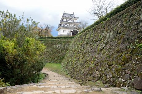 宇和島城天守と石垣 の写真素材 [FYI04293687]
