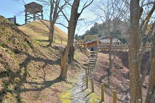 城跡公園足助城 南の丸の写真素材 [FYI04294314]