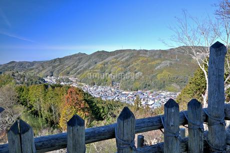 城跡公園足助城からの眺めの写真素材 [FYI04294322]