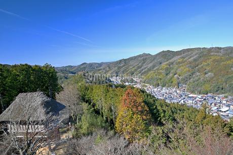城跡公園足助城からの眺めの写真素材 [FYI04294323]