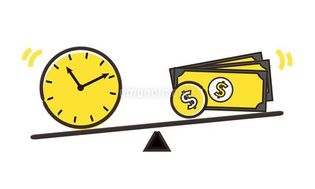 労働と時間の天秤イメージのイラスト素材 [FYI04294498]