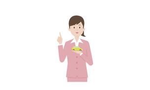 企業_調査イメージの女性イラストのイラスト素材 [FYI04294506]