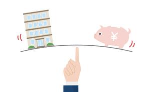不動産_マンションと豚の貯金箱のイラストのイラスト素材 [FYI04294528]