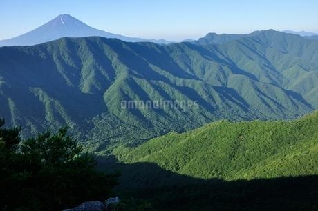 釈迦ヶ岳より夏の富士山の写真素材 [FYI04294692]