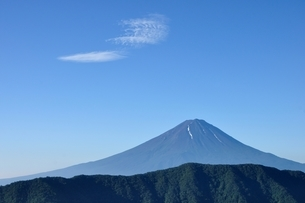 夏富士に青空の写真素材 [FYI04294708]