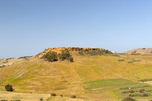 チタデル大要塞から望むゴゾ島の畑の写真素材 [FYI04294894]