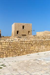 ゴゾ島チタデル 大要塞の城壁の写真素材 [FYI04294910]