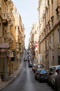 マルタ世界遺産旧市街の坂道の写真素材 [FYI04294920]