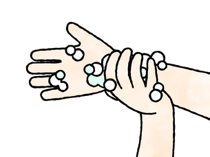 手洗い-手首-水彩のイラスト素材 [FYI04294988]