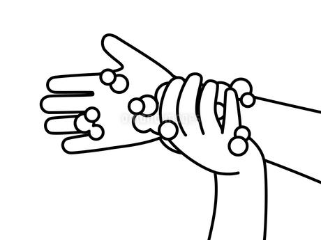 手洗い-手首-白黒のイラスト素材 [FYI04294989]