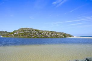 オーストラリア・西オーストラリア州にある海面の澄んだギルダートンビーチとムーア川の交わる所の光景の写真素材 [FYI04295195]