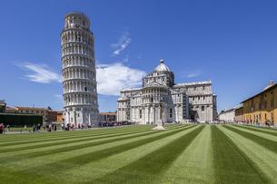 イタリア、ピサの斜塔の写真素材 [FYI04295311]