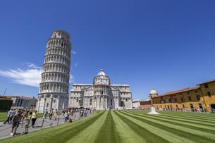 イタリア、ピサの斜塔の写真素材 [FYI04295414]